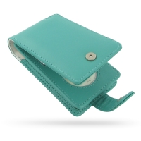 iPod Classic 2nd Leather Flip Case (Aqua) PDair Premium Hadmade Genuine Leather Protective Case Sleeve Wallet