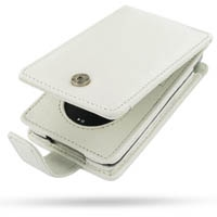 iPod Classic 2nd Leather Flip Case (White) PDair Premium Hadmade Genuine Leather Protective Case Sleeve Wallet