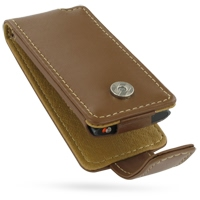 Leather Flip Case for Apple New iPod nano 4th (Brown)