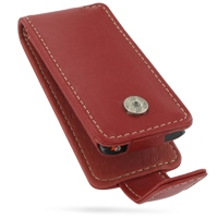 Leather Flip Case for Apple New iPod nano 4th (Red)