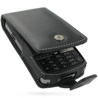 Leather Flip Case for Asus P750 (Black)