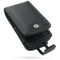 Leather Flip Case for AT&T HTC Pure (Black)