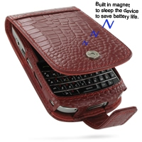 10% OFF + FREE SHIPPING, Buy PDair Quality Handmade Protective BlackBerry Bold 9000 Genuine Leather Flip Case (Red Croc Pattern) online. You also can go to the customizer to create your own stylish leather case if looking for additional colors, patterns a