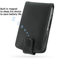 Leather Flip Case for BlackBerry Curve 8300 (Black)