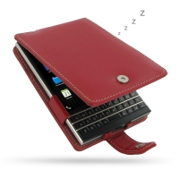 Leather Flip Case for BlackBerry Passport (Red)
