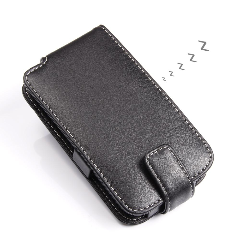 brand new 0689a c6e68 Leather Flip Case for BlackBerry Q5
