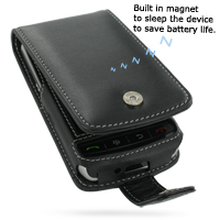 Leather Flip Case for BlackBerry Storm 9500 9530 (Black)