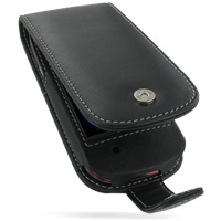 Leather Flip Case for Dell Mini3i (Black)