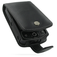 Leather Flip Case for Eten Glofiish DX900 (Black)