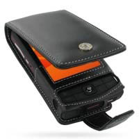 Leather Flip Case for Eten Glofiish X600 (Black)