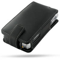 Fujitsu Siemens Pocket Loox T830 Leather Flip Case (Black) PDair Premium Hadmade Genuine Leather Protective Case Sleeve Wallet