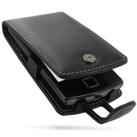 Garmin nuvifone A50 Leather Flip Case PDair Premium Hadmade Genuine Leather Protective Case Sleeve Wallet