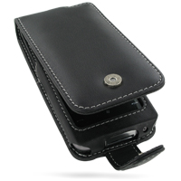 Leather Flip Case for Garmin-Asus nuvifone M10 (Black)