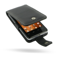 Gigabyte Intel AZ210A Leather Flip Case (Black) PDair Premium Hadmade Genuine Leather Protective Case Sleeve Wallet