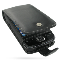 HP iPAQ 200 Series Leather Flip Case PDair Premium Hadmade Genuine Leather Protective Case Sleeve Wallet
