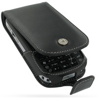 Leather Flip Case for HP iPAQ 610 Series (Black)