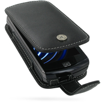 Leather Flip Case for HP iPAQ Data Messenger (Black)