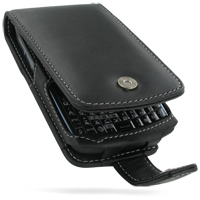 Leather Flip Case for HP iPAQ Glisten (Black)