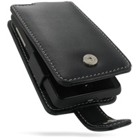 Leather Flip Case for HTC Aria (Black)