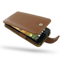 HTC Butterfly Leather Flip Case (Brown) PDair Premium Hadmade Genuine Leather Protective Case Sleeve Wallet