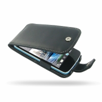 HTC Desire 500 Leather Flip Case PDair Premium Hadmade Genuine Leather Protective Case Sleeve Wallet