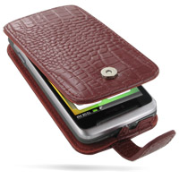 10% OFF + FREE SHIPPING, Buy Best PDair Quality Handmade Protective HTC Desire Z / T-mobile G2 Leather Flip Case (Red Croc Pattern). You also can go to the customizer to create your own stylish leather case if looking for additional colors, patterns and t