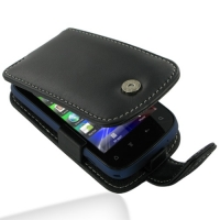 Leather Flip Case for HTC Explorer A310e (Black)
