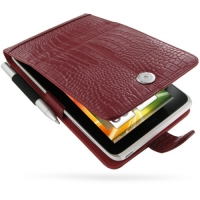 10% OFF + FREE SHIPPING, Buy Best PDair Top Quality Handmade Protective HTC Flyer Leather Flip Case (Red Croc Pattern) online. Pouch Sleeve Holster Wallet You also can go to the customizer to create your own stylish leather case if looking for additional