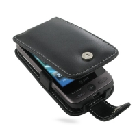 HTC Freestyle Leather Flip Case (Black) PDair Premium Hadmade Genuine Leather Protective Case Sleeve Wallet