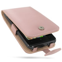 HTC HD7 T9292 Leather Flip Case (Pink) PDair Premium Hadmade Genuine Leather Protective Case Sleeve Wallet