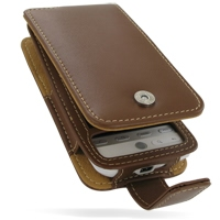 Leather Flip Case for HTC Hero (Brown)