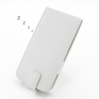HTC One M8 Leather Flip Case (White) PDair Premium Hadmade Genuine Leather Protective Case Sleeve Wallet