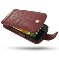 10% OFF + FREE SHIPPING, Buy Best PDair Top Quality Handmade Protective HTC One S Leather Flip Case (Red Croc Pattern) online. Pouch Sleeve Holster Wallet You also can go to the customizer to create your own stylish leather case if looking for additional