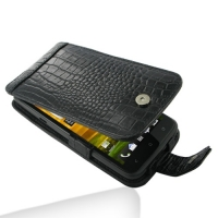Leather Flip Case for HTC One X S720e / One XL 4G (Black Crocodile Pattern)
