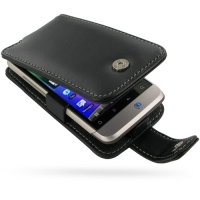 Leather Flip Case for HTC Salsa C510e (Black)