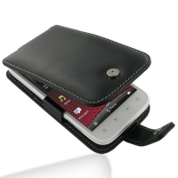 Leather Flip Case for HTC Sensation XL X315e (Black)