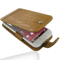 10% OFF + FREE SHIPPING, Buy PDair Top Quality Handmade Protective HTC Sensation XL Leather Flip Case (Brown Croc Pattern) online. Pouch Sleeve Holster Wallet You also can go to the customizer to create your own stylish leather case if looking for additio