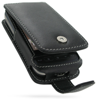 Leather Flip Case for HTC Touch 2 T3333 (Black)