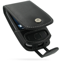 Leather Flip Case for HTC Touch 3G (Black)