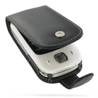 Leather Flip Case for HTC Touch Dual 850/DoCoMo HT1100 (Black)