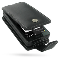 Leather Flip Case for HTC Touch Pro (Black)