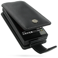 Leather Flip Case for HTC Touch Pro XV6850 (Black)