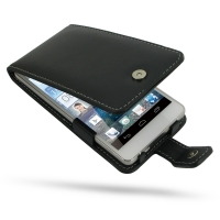 Huawei Ascend D2 Leather Flip Case PDair Premium Hadmade Genuine Leather Protective Case Sleeve Wallet