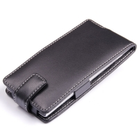 Huawei Ascend P2 Leather Flip Case PDair Premium Hadmade Genuine Leather Protective Case Sleeve Wallet