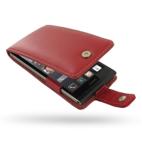 Leather Flip Case for Huawei Ascend P6 (Red)
