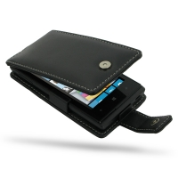 Leather Flip Case for Huawei Ascend W1