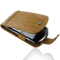 Huawei IDEOS X5 Leather Flip Case (Brown Croc Pattern) PDair Premium Hadmade Genuine Leather Protective Case Sleeve Wallet