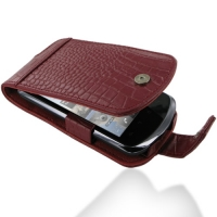 Leather Flip Case for Huawei IDEOS X5 U8800 (Red Crocodile Pattern)