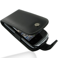Huawei U8650 Leather Flip Case (Black) PDair Premium Hadmade Genuine Leather Protective Case Sleeve Wallet