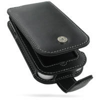 Leather Flip Case for LG Arena KM900 (Black)